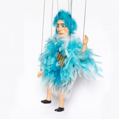 Einzelstück, Sonderanfertigung Marionette Papageno aus der Zauberflöte von Mozart für Sammler