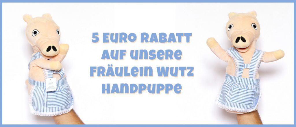 Fräulein Wutz Handpuppe im Angebot günstig kaufen vor Weihnachten von der Augsburger Puppenkiste