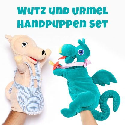 Wutz und Urmel als hangemachte Handpuppe der Augsburger Puppenkiste jetzt im Angebot