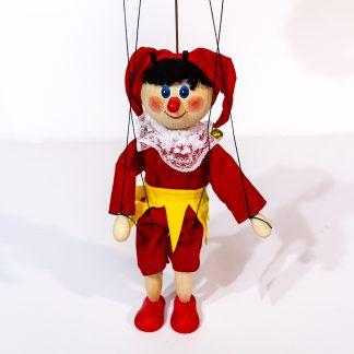 Kasperle Kasper Marionette aus Holz handgemacht steht frontal