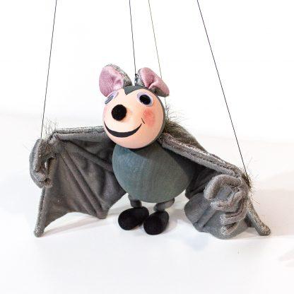 Augsburger Puppenkiste Marionette von Kalle Wirsch Fledermaus Tutulla frontal